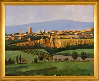 Orvieto view, Italy 11x16 Oil on canvas